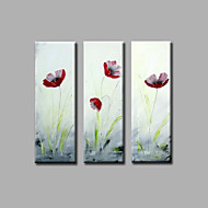 """Stretched (ready to hang) Hand-painted Oil Painting 36""""x36"""" Canvas Wall Art Modern Flowers Red Tulips"""