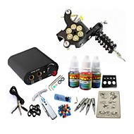 Tattoo Kit JH561  Machine With Power Supply Grips 3x10ML Ink