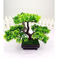 Artificial Japanese Cedar Bonsai Tree Modern Home Decor (Green)
