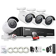 annke® nové 4ch kamerový systém NVR PoE NVR video 1080p ourput 1080p proti povětrnostním vlivům IP CCTV kamerový bezpečnostní systém s 1TB