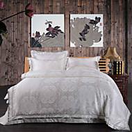 katoenen art jacquard beddengoed serie luxe 4-delige dekbedovertrek set, queen / king size