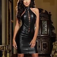 Women's PVC Leather Catsuit Fancy Dress