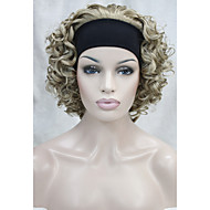 естественно короткие волнистые кудрявые 3/4 парик блондинки смесь с оголовья парики бесплатная доставка