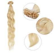 """Neitsi 20"""" 1g/s Keratin Fusion U Nail Tip Natural Wave 100% Human Hair Extensions 22#"""