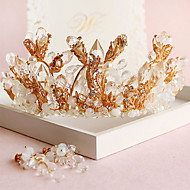 Bride's Rhrinestone Foehead Wedding Hair Band Headbands Tiaras 1 Set (1piece Tiaras + 1 pair Earrings)
