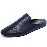 Men's Shoes Casual Leatherette Clogs & Mules Black / Navy