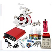 Basekey Tattoo Kit JH551  1 Machine With Power Supply Grips 3x10ML Ink