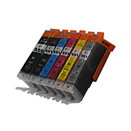 bloom®550bk + 551bk / c / m / y / gy kompatibel blekkpatron for canon mg5450 / mg6350 / mg6450 / mg7150 / mx925 / mx725 / ix6850 / ip8750
