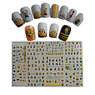 11 Nail Art Sticker Watertransfer decals 3D Nagelstickers Cartoon Schattig make-up Cosmetische Nail Art Design