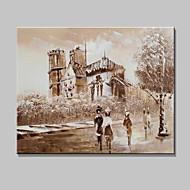 mini formato dipinte a mano Parigi paesaggio della città moderna pittura ad olio su tela di un pannello pronto ad appendere 20x25cm