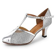 Customizable Women's Dance Shoes Leatherette Leatherette Latin / Modern / Salsa Heels Customized Heel PracticeBlack / Silver / Gray /