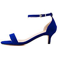 Mujer-Tacón Stiletto-Tacones / Punta AbiertaOficina y Trabajo / Vestido / Casual-Tejido-Negro / Azul / Amarillo / Rojo / Naranja / Fucsia
