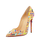 Women's Shoes Pointed Toe Leatherette Stiletto 12cm high Heels   Party & Evening Multi-color Shoes