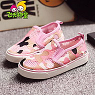 Boy's / Girl's Spring / Summer / Fall Comfort / Round Toe Tulle Outdoor / Casual / Athletic Flat Heel Others / Gore Black / Pink