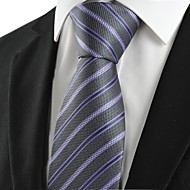 New Striped Lilac Black Formal Mens Tie Necktie Wedding Party Holiday Gift #1064