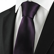 New Plain Solid Purple Mens Tie Suit Necktie Formal Wedding Holiday Gift KT1015