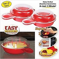 As Seen On TV - Easy Eggwich Cooking Tool Microwave Cheese Egg Cooker 2 Pcs