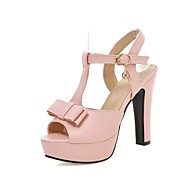 Women's Shoes Chunky Heel Platform/Slingback/Open Toe Sandals Party & Evening/Dress Black/Green/Pink/Beige