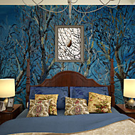 JAMMORY Trees/Leaves Wallpaper Contemporary Wall Covering,Other Large Abstract Mural Wallpaper