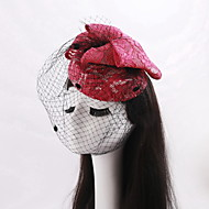 Women's / Flower Girl's Lace / Net Headpiece-Wedding / Special Occasion / Casual Fascinators 1 Piece