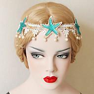 The Starfish Pearl Lace Headdress Decoration