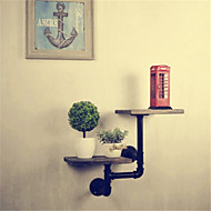 Metal Iron Country Old Retro Shelf Shelves Showcase Industrial Water Pipes Bookcase Shelf Ledge Bathroom Furniture-Z50