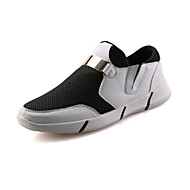 Men's Shoes Outdoor / Athletic / Casual Tulle Fashion Sneakers / Athletic Shoes Black / Red / White
