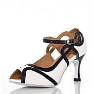 Sapatos de Dança(Vermelho / Branco) -Feminino-Personalizável-Latina / Jazz / Sapatos de Swing / Salsa / Samba