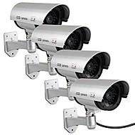 kingneo 4pcs falso outdoor / manequim câmera de segurança de vigilância CCTV à prova d'água