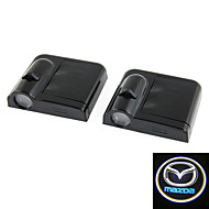 2x White For Mazda Wireless car door LED projection projector light courtesy ghost