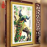 diy riqueza 5d pintura diamante ponto cruz rodada pavão bordado e boa sorte decoração de casa mosaico
