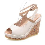 Women's Shoes  Wedge Heel Wedges / Peep Toe / Platform Sandals Dress / Casual Black / Pink / Beige