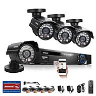annke® 8ch sistema de circuito cerrado de televisión 960 H DVR 4pcs aire libre del CCTV kits de vigilancia de la cámara sistema de