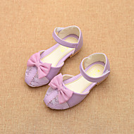 Girls' Shoes Dress / Casual Comfort / Round Toe / Closed Toe Tulle / Flats Black / Pink / Purple