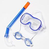 Svømmebriller Snorkelsett Snorkelpakker Snorkler Dykkermasker Svømming Goggles Dykking og snorkling Svømming Silikon Rød Gul Blå-WAVE
