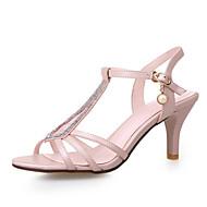 נעלי נשים-סנדלים-דמוי עור-רצועת T-כחול / לבן-חתונה / שמלה / מסיבה וערב-עקב סטילטו