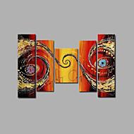 Pintada a mano AbstractoModern Cinco Paneles Lienzos Pintura al óleo pintada a colgar For Decoración hogareña