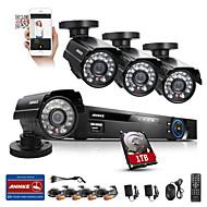 annke kit de seguridad dvr 8ch 800tvl 960H HDMI IR sistema de seguridad resistente a la intemperie al aire libre cámara de CCTV