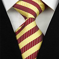 Gravata(Vermelho / Amarelo,Poliéster)Listrado