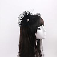 Women's / Flower Girl's Feather / Rhinestone / Organza / Net Headpiece-Wedding / Special Occasion Fascinators 1 Piece