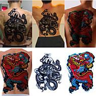 tatuaje temporal (vuelta completa) - dragón (2pcs)