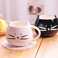 1PC 300ML Cute Black And White Cat Ceramic Cup Personality Single Cup Rural Amorous Feelings Cup Gifts