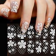 1 Neglekunst Klistermærke Blonde Klstremærke 3D Negle Stickere Blomst Makeup Kosmetik Neglekunst Design