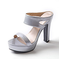 Women's Shoes Chunky Heel Platform/Sling back/Open Toe Heels Sandals Party & Evening/Dress Green/Pink/Silver