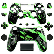 Replacement Controller Case for PS4 Controller (Green Splash)