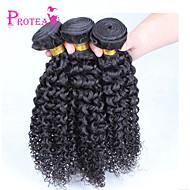 3шт / много 8 '' - 28''brazilian девственные волосы натуральный черный цвет странный вьющиеся волосы ткет человек