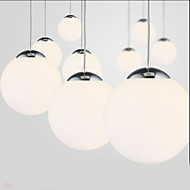 Single Head Milky white Glass Chandelier Ball Clothing Store