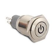 16mm 12v röd lysdiod på / av knapparna växlar för bil auto båt