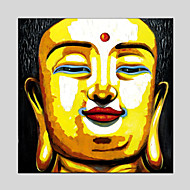 Buddha Style Canvas Material Oil Paintings with Stretched Frame Ready To Hang Size 70*70CM.