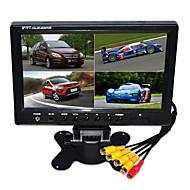 9 pouces voiture hd quad-lcd-tft moniteur de recul avec support caméra de recul sauvegarde de haute qualité